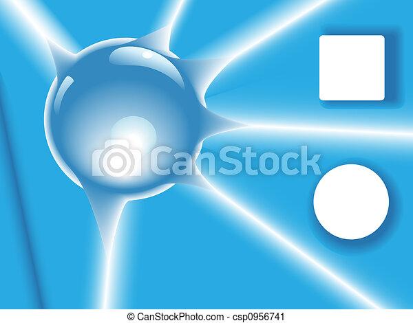 Blue Radiant Shiny Orb Background - csp0956741