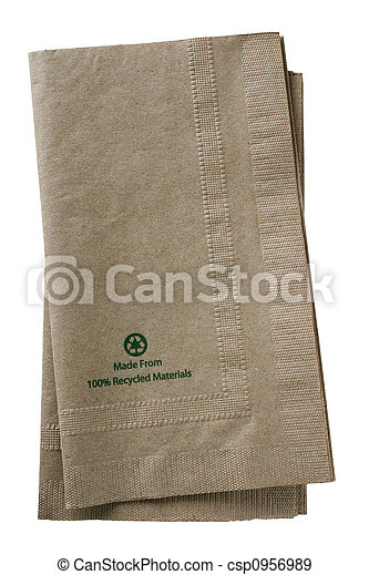 Recycled paper napkins - csp0956989