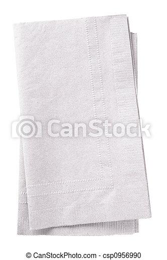 White napkins - csp0956990