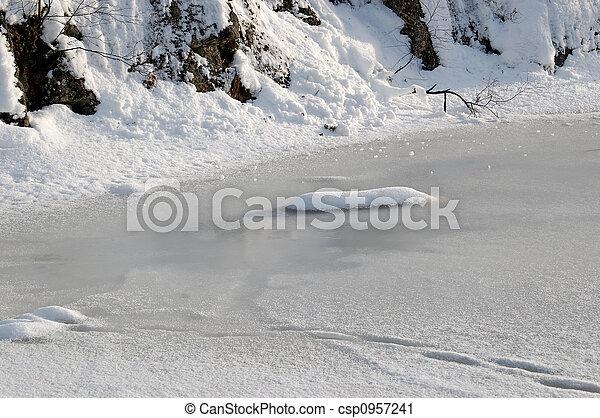 Ice on a Lake - csp0957241