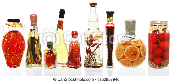 Oil Infusions and Preserves - csp0957948
