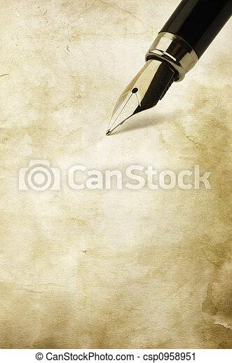 vintage writing - csp0958951