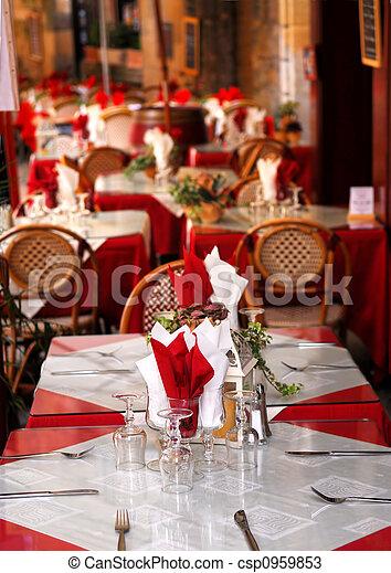 Restaurant patio - csp0959853