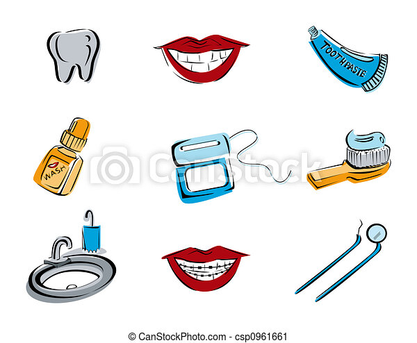 Dental Icons - csp0961661