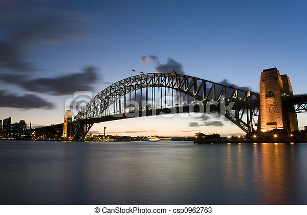 Sydney Harbour Bridge At Dusk - csp0962763