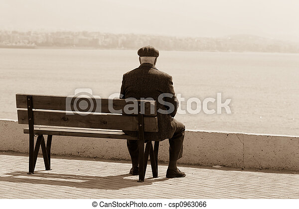 hombres, declinante, años - csp0963066