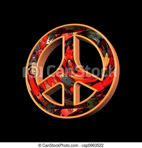 peace and love symbol - csp0963522