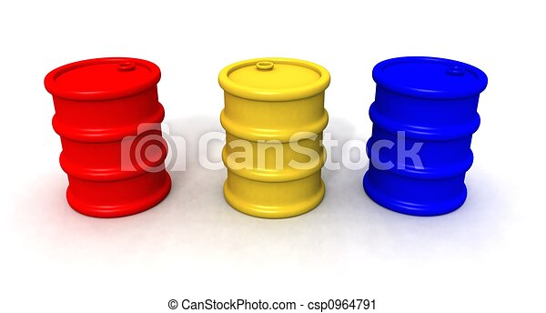 colored barrels - csp0964791