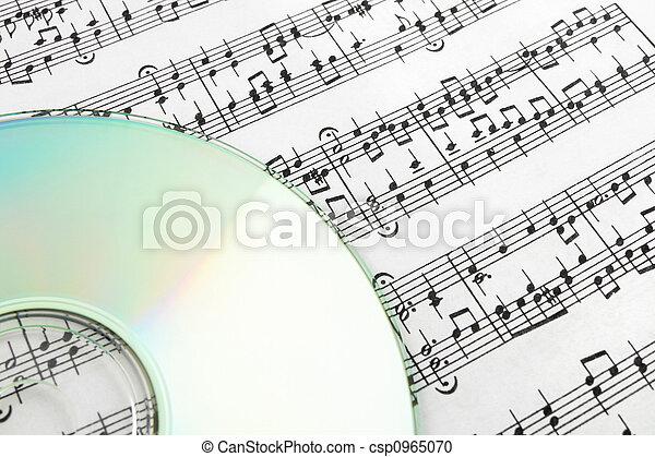 CD on sheet music - csp0965070