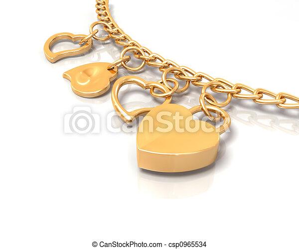 Heart bracelet - csp0965534