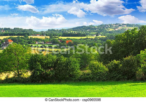 Rural landscape - csp0965598