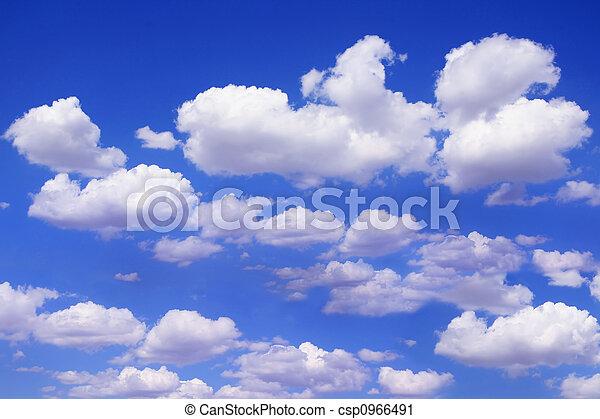 美麗, 藍色, 天空 - csp0966491