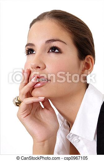 woman thinks - csp0967105