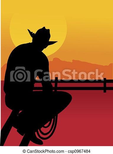 cowboy drawings clip art