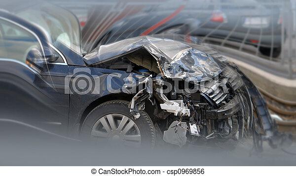 X 15 Crash Stock Image of car crash - crashed caron the street csp0969856 ...