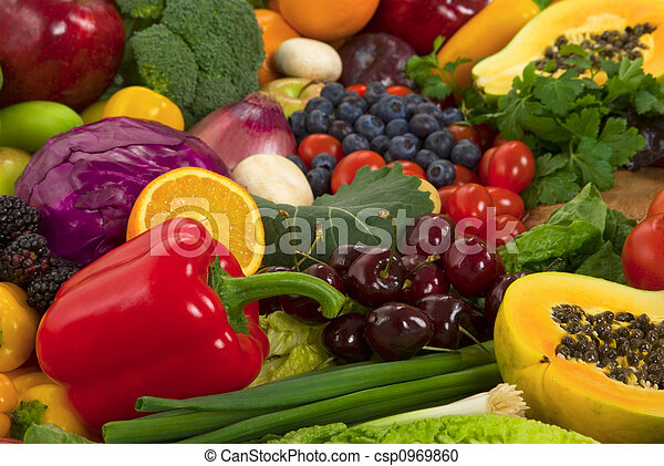 Vegetables and Fruits - csp0969860