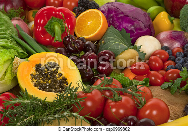 Vegetables and Fruits - csp0969862