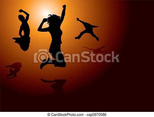 leap of joy - csp0970586