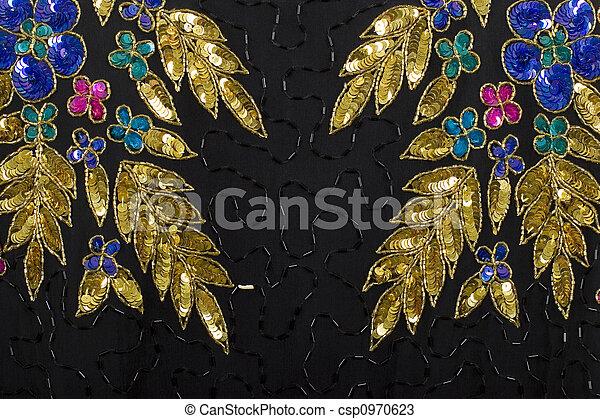 stock fotos von stoff gold schwarz hintergrund silber schmuck silber csp0970623. Black Bedroom Furniture Sets. Home Design Ideas