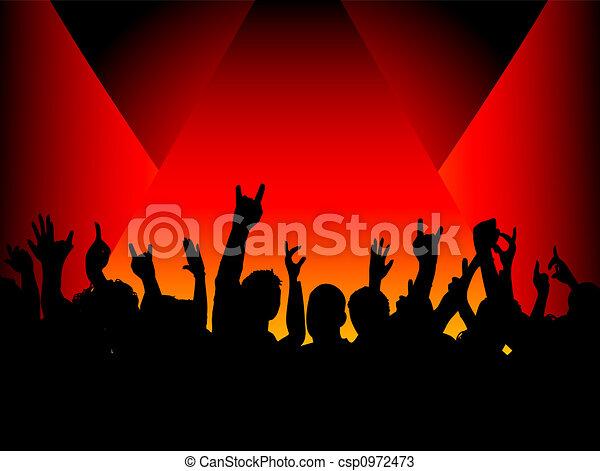 audience in spotlight - csp0972473