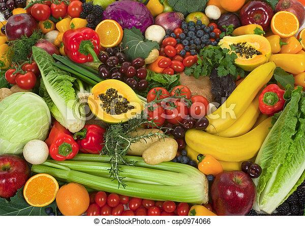 grönsaken, frukter - csp0974066