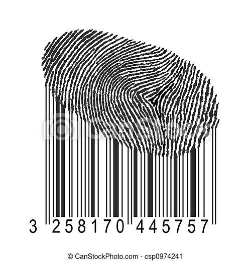 fingerprint with bar code - csp0974241