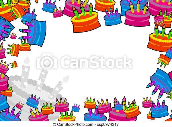 Stock Illustrations Of Cake Border Decorative Birthday