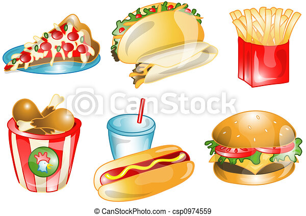 Fast foods icons or symbols - csp0974559