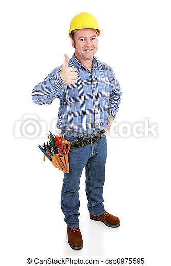 Real Construction Worker - Thumbsup - csp0975595