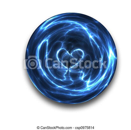 crystal ball heart - csp0975814
