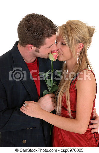 Valentine love, young adults - csp0976025