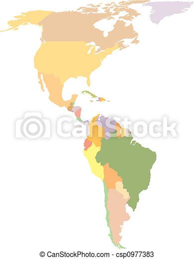 America Map - csp0977383