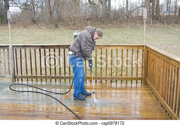 Pressure washing deck - csp0978172