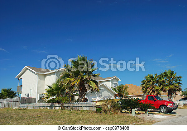 Residential house in southern USA - csp0978408