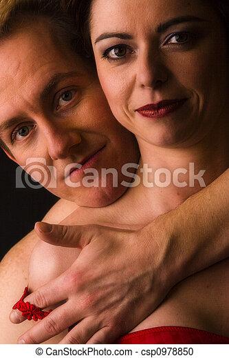 Man undressing woman - csp0978850