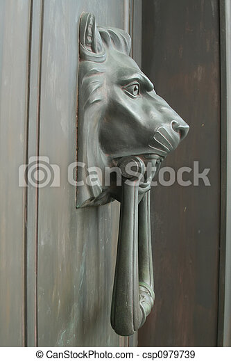 lion head door knob - csp0979739