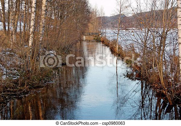 Late Autumn River - csp0980063