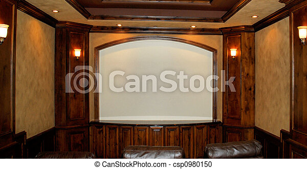 private home theater room - csp0980150