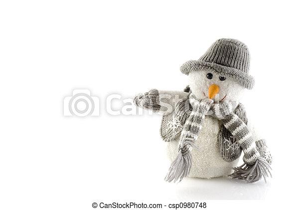 bonhomme de neige, hiver - csp0980748