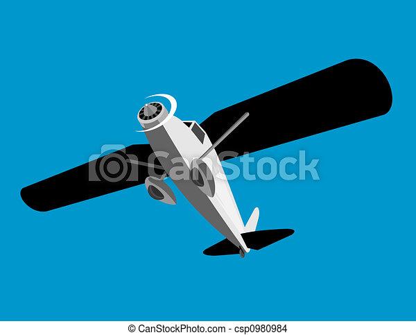 Propeller, vliegtuig, vliegen - csp0980984