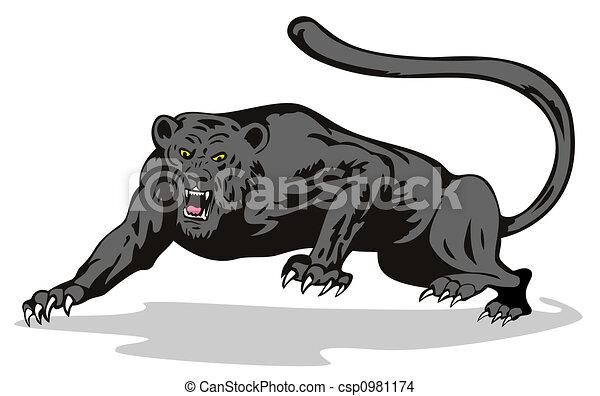 dessin de r u00f4der  panth u00e8re illustration  sur  vie sauvage cougar clip art silhouette cougar clip art silhouette