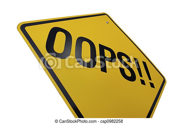 Oops! Road Sign - csp0982258