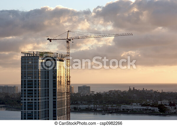 Crane and Building Construction Site - csp0982266