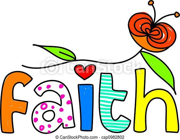 Clip Art Faith Clipart faith clipart and stock illustrations 35452 vector eps whimsical drawing of the word isolated on