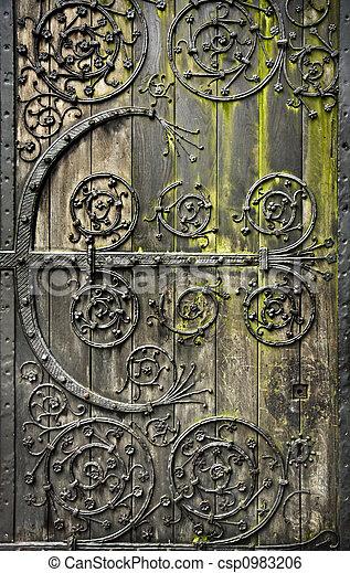 Old door - csp0983206