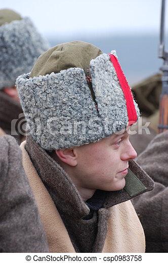 Russian soldier 1918 - csp0983758