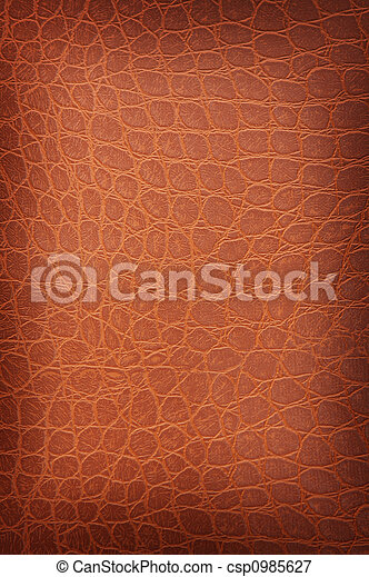 Tanned crackled leather close up - csp0985627