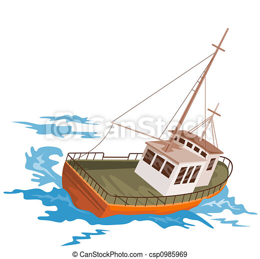 Stock Illustration of Fishing boat - Illustration on boats ...