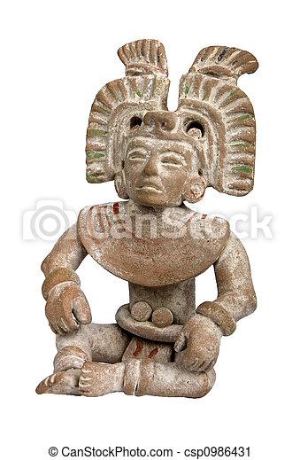 Mayan terracotta - csp0986431