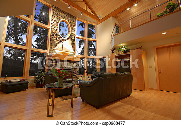 Interior of an Upscale House - csp0988477